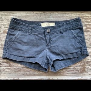 Hollister Chino Low Rise Blue Shorts